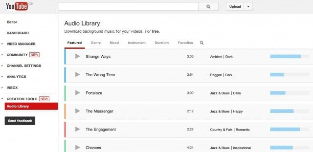 how to add to youtube audio library